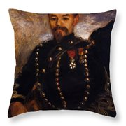 Captain Edouard Bernier 1871 Throw Pillow