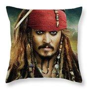 Captain Jack Sparrow Throw Pillow