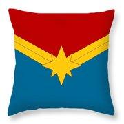 Captain Marvel Logo Throw Pillow