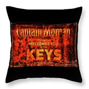 Captain Morgan The Florida Keys Throw Pillow
