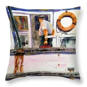 Captain Of The Lady Suzzy Q Throw Pillow