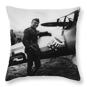 Captain Rickenbacker Throw Pillow by War Is Hell Store