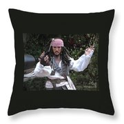 Captain Sparrow Throw Pillow