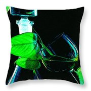 Captains Decanter Throw Pillow