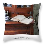 Captain's Log Throw Pillow