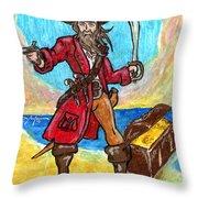 Captain's Treasure Throw Pillow
