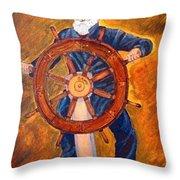 Captian Of The Dawn Throw Pillow