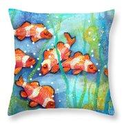 Captivating Clown Fish Throw Pillow