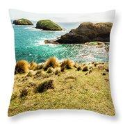 Captivating Coastal Cliff Throw Pillow
