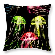 Captivating Connectivity Throw Pillow