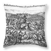 Capture Of Atahualpa, 1532 Throw Pillow