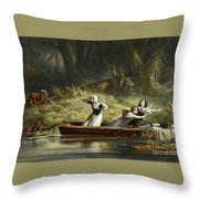 Capture Of The Daughters Of Daniel Boone And Richard Callaway By The Indians Throw Pillow