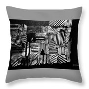 Captured Flight Throw Pillow