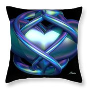 Captured Heart Throw Pillow