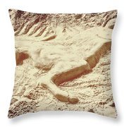 Captured In The Sand Art Throw Pillow