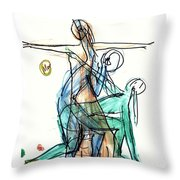 Captured Movements Throw Pillow