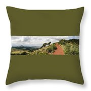 Capulin Volcano View Panorama New Mexico Throw Pillow