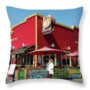 Capurro's Restaurant At Fisherman's Wharf San Francisco, California Throw Pillow
