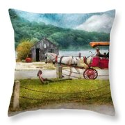 Car - Wagon - Traveling In Style Throw Pillow