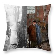 Car Accident - Watch For Ice 1921 - Side By Side Throw Pillow
