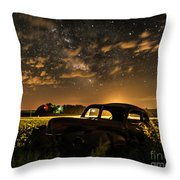 Car And The Milky Way Throw Pillow