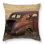 Car At Rust Throw Pillow