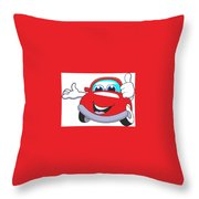 Car Throw Pillow