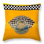 Car - City - Nyc Taxi Throw Pillow
