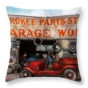 Car - Garage - Cherokee Parts Store - 1936 Throw Pillow