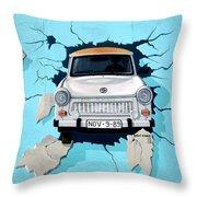 Car Graffiti Throw Pillow