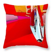 Car Hood Reflection Bump Map Throw Pillow