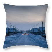 The Road Away From Here Throw Pillow