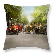 Car - Race - Hold On To Your Hats 1915 Throw Pillow