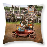 Car - Race - On The Edge Of Their Seats 1915 Throw Pillow