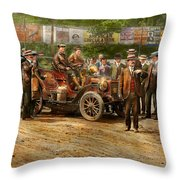 Car - Race - The End Of A Long Journey 1906 Throw Pillow