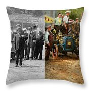 Car - Race - The End Of A Long Journey 1906 - Side By Side Throw Pillow