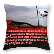 Car Reflection With Text 4 Throw Pillow