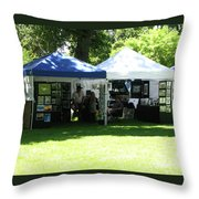 Car Show Booth 2011 Throw Pillow