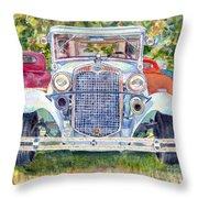 Car Show Throw Pillow