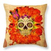 Cara De La Flor Throw Pillow