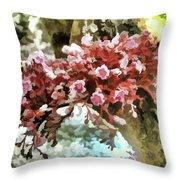 Carambola Flower Throw Pillow
