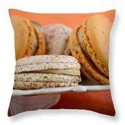 Caramel And Vanilla Macaroons Throw Pillow