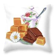 Caramel Chocolate Throw Pillow