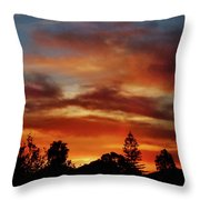 Caramel Sunset Throw Pillow