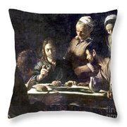 Caravaggio: Emmaus Throw Pillow