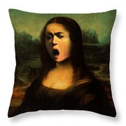 Caravaggio's Mona Throw Pillow
