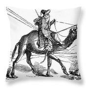 Caravan: Dromedary Throw Pillow