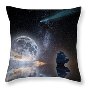 Caravel And Comet Throw Pillow
