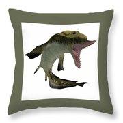 Carboniferous Edestus Shark Throw Pillow