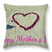 Card For Mothers Day Throw Pillow